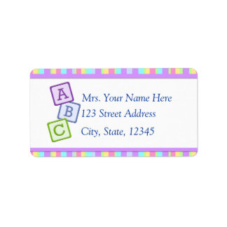 Bright Baby Address Lables Label