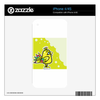 Bright baby bird decals for the iPhone 4S