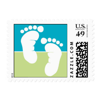 Bright Baby Feet Postage Stamps
