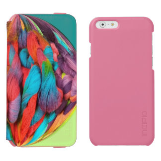 Bright Ball Of Multi-Color Yarn Skeins iPhone 6/6s Wallet Case