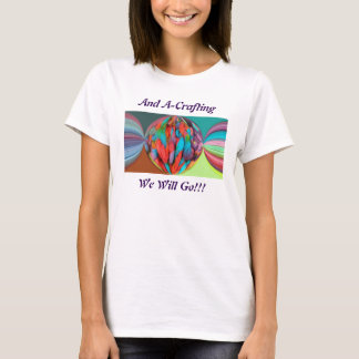 Bright Ball Of Multi-Color Yarn Skeins T-Shirt