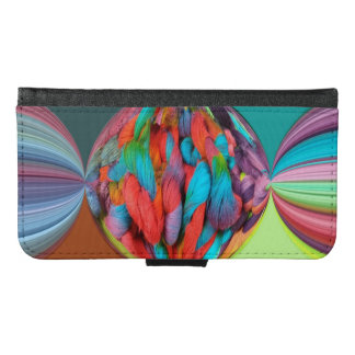 Bright Ball Of Multi-Color Yarn Skeins Wallet Phone Case For Samsung Galaxy S6