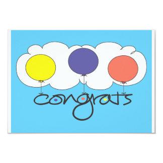 Bright balloon Congrats gift card enclosure