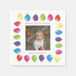 bright balloons customizable serviettes napkins paper napkin