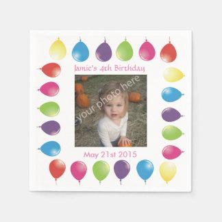 bright balloons customizable serviettes napkins standard cocktail napkin