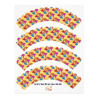 Bright Bandanas DIY Cutout Cupcake Covers - Personalized Flyer