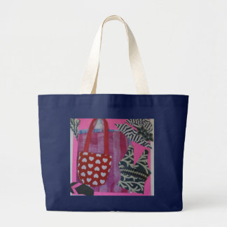 Bright Beach Graphic Art Large Tote Bag