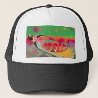 Bright Beach House Sign Message in A Bottle Trucker Hat