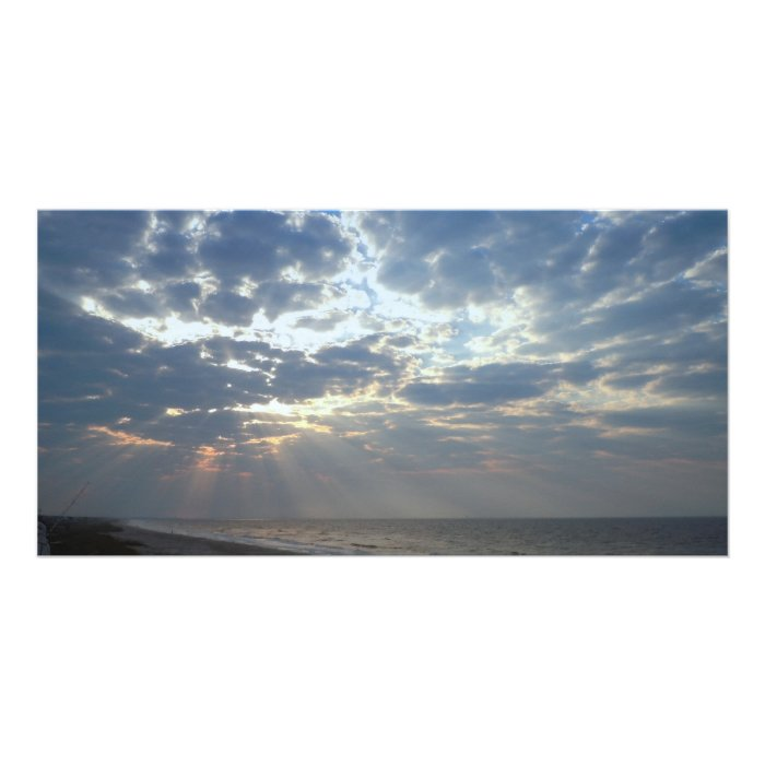 Bright Beach Morning - Oak Island, NC Card