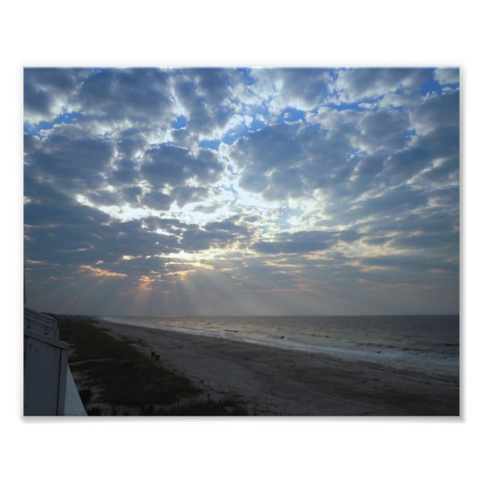 Bright Beach Morning - Oak Island, NC Photo Print