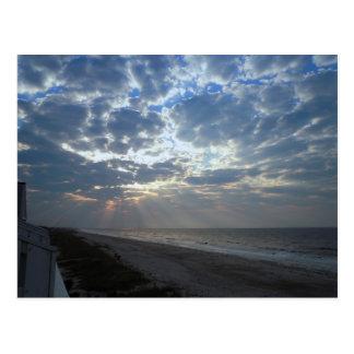 Bright Beach Morning - Oak Island, NC Postcard