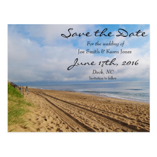 Bright Beachy Save the Date Postcard