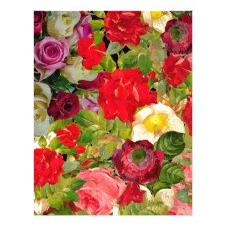 Bright Beautiful Flower Collage Letterhead