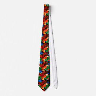 Bright Beautiful Parrots Tie