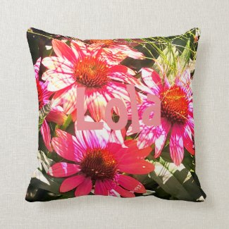 Bright Beautiful Pink Flowers Pure Nature Throw Pillow