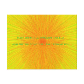 Bright Beautiful Positive Affirmation Quote Canvas Print