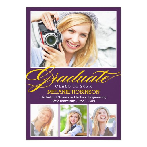 Bright Beginning Graduation Invitation - Purple
