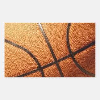 Bright_Big_Round_Orange_Basketball, _ Pegatina Rectangular