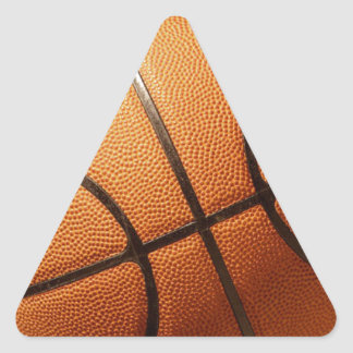 Bright_Big_Round_Orange_Basketball, _ Pegatina Triangular