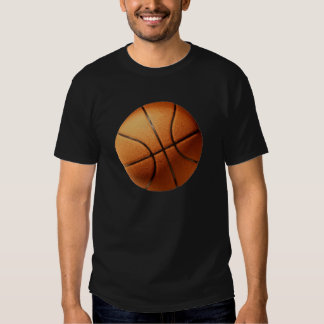 Bright_Big_Round_Orange_Basketball,_ Tshirt
