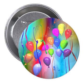 Bright Birthday Balloons 3 Inch Round Button