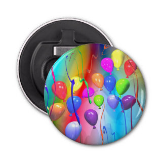 Bright Birthday Balloons Bottle Opener