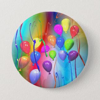 Bright Birthday Balloons Button