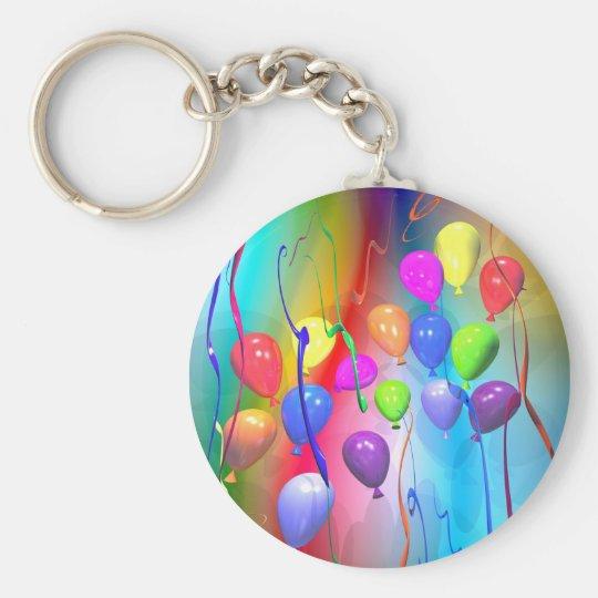 Bright Birthday Balloons Keychain