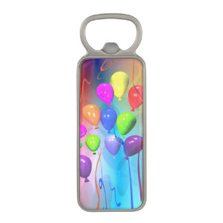 Bright Birthday Balloons Magnetic Bottle Opener