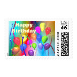 Bright Birthday Balloons Postage Stamps