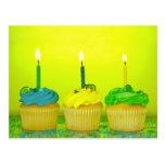 Bright Birthday Cupcakes Post Cards