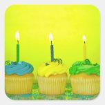 Bright Birthday Cupcakes Sticker