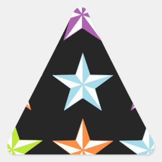 Bright & Black Stars Triangle Sticker