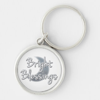 Bright Blessings Crescent Moon Keychain