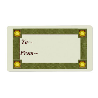 Bright Blessings Gift Tag Shipping Label