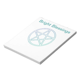 Bright blessings note pad