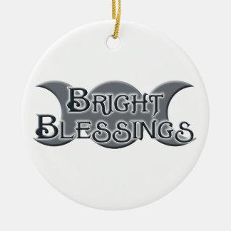 Bright Blessings Triple Moon Ornament