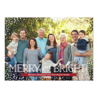 Bright Blizzard Holiday Photo Card - Red