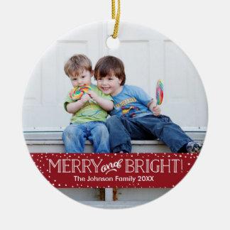 Bright Blizzard   Photo Holiday Ornament