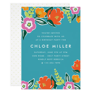 Bright Blooms Party Invite