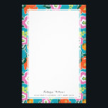 """Bright Blooms Personalized Stationery<br><div class=""""desc"""">Colorful floral design by Shelby Allison.</div>"""