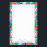 "Bright Blooms Personalized Stationery<br><div class=""desc"">Colorful floral design by Shelby Allison.</div>"
