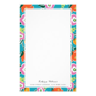 Bright Blooms Personalized Stationery