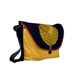 Bright Blossom Moon Courier Bag