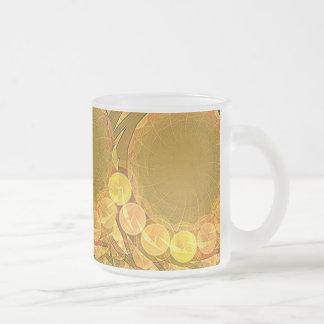 Bright Blossom Moon 10 Oz Frosted Glass Coffee Mug