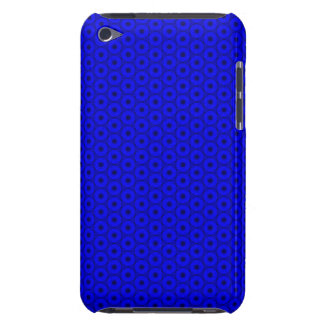 Bright Blue and Black Circle Pattern Barely There iPod Cover