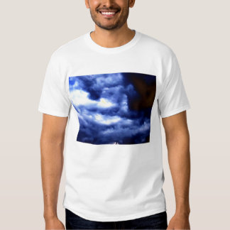 Bright Blue and Dark Brown Storm by KLM T-shirt