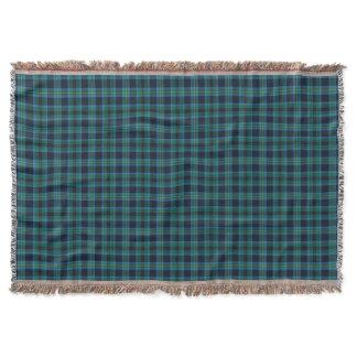 Bright Blue and Green Clan Miller Scottish Tartan Throw