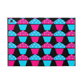 Bright Blue and Hot Pink Cupcake Pattern iPad Mini Covers