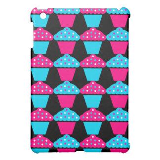 Bright Blue and Hot Pink Cupcake Pattern iPad Mini Case